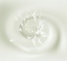Welling Up - White Water Lily by MotherNature2