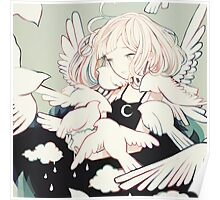 carrying rainclouds and doves Poster