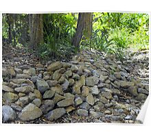 Dry rocky creek bed Poster