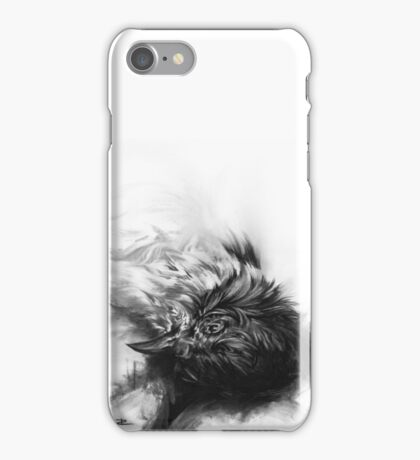 Senescent 4 - charcoal drawing iPhone Case/Skin