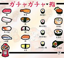 Gumball Sushi     Japanese by thickblackoutline