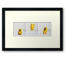 Backflipping Tiger Framed Print