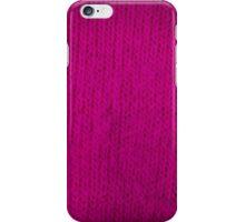 magenta knitting iPhone Case/Skin