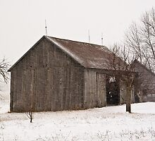 ~ The Barn in the Blizzard ~ by Tim Denny