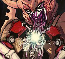 unicron devours optimus prime by Spheen7