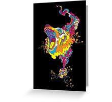 Psychedelic acid bear roar Greeting Card
