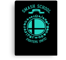 Smash School United (Cyan) Canvas Print