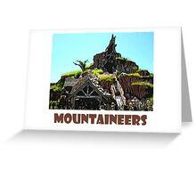 "Splash Mountain Disney World ""Mountaineers"" Greeting Card"