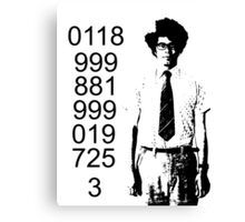 It crowd emergency number Canvas Print