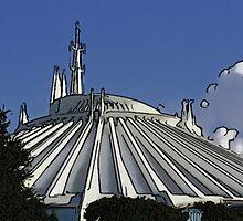 Space Mountain Cartoon Disneyland Disney World by WDWMountaineers