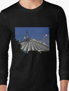 Space Mountain Cartoon Disneyland Disney World Long Sleeve T-Shirt