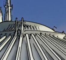 Space Mountain Cartoon Disneyland Disney World Sticker