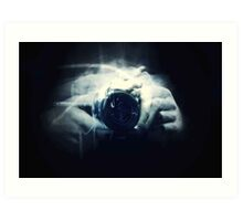 Hands and Light in Photography Art Print