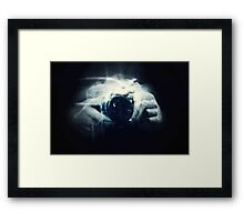 Hands and Light in Photography Framed Print