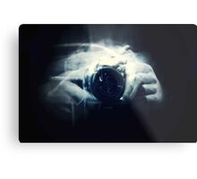 Hands and Light in Photography Metal Print