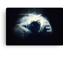 Hands and Light in Photography Canvas Print