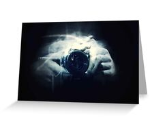 Hands and Light in Photography Greeting Card