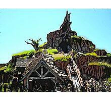 Splash Mountain Cartoon Disneyland Disney World Photographic Print