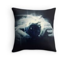 Hands and Light in Photography Throw Pillow