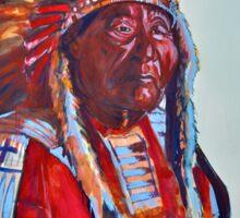 Crazy Head, Cheyenne Chief Sticker