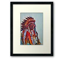 Crazy Head, Cheyenne Chief Framed Print