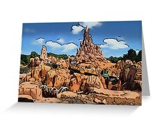 Big Thunder Mountain Cartoon Disney World Disneyland Greeting Card