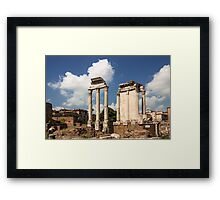 The Ruin of Roman Forum, Rome, Italy Framed Print