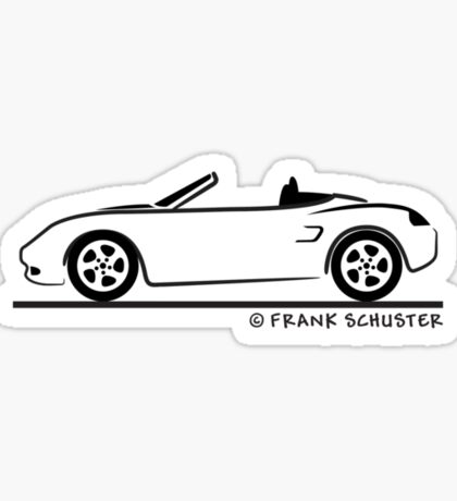Porsche Boxster 986 Black Sticker