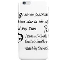 Wolfstar names iPhone Case/Skin