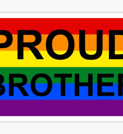 PROUD BROTHER Sticker