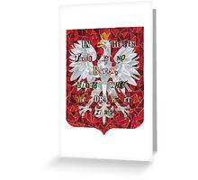 Polish Eagle Mosaic Collage Greeting Card