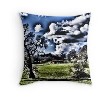Clouds Over the Valley Throw Pillow