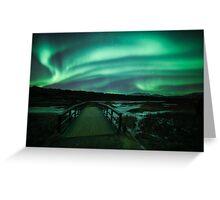 Aurora Borealis at Thingvellir - Iceland Greeting Card