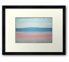Misty Lake original painting Framed Print