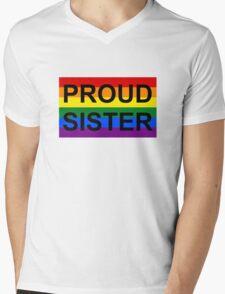 PROUD SISTER Mens V-Neck T-Shirt