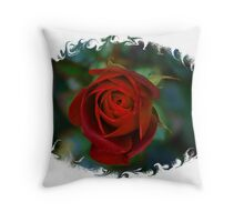 A New Spring Rose Bud Throw Pillow