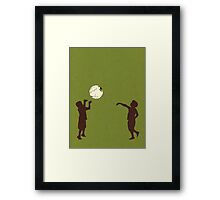Eye Ball, Green Framed Print