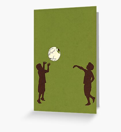 Eye Ball, Green Greeting Card
