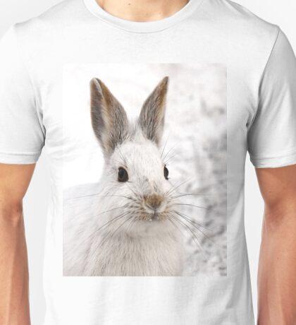 Snowshoe Hare closeup Unisex T-Shirt