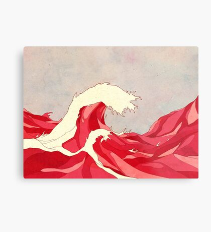 Cherry Waves Metal Print