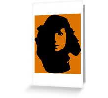 Woman in Shadow Greeting Card