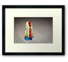 Hot Dog Costume Framed Print