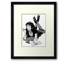 Pulp Fiction- Mia Wallace Framed Print
