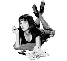 Pulp Fiction- Mia Wallace Photographic Print