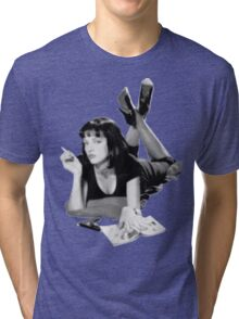 Pulp Fiction- Mia Wallace Tri-blend T-Shirt