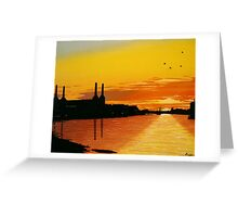 Power Station at Sunset Greeting Card