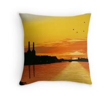 Power Station at Sunset Throw Pillow