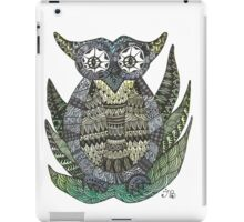 Watercolor and Ink Owl iPad Case/Skin