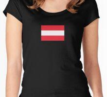 Oesterreichische Fahne - Austrian World Cup Flag - Österreich T-Shirt Women's Fitted Scoop T-Shirt