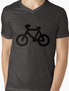 Bike in Black Mens V-Neck T-Shirt